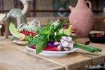Mint Sprigs and Radish Flowers